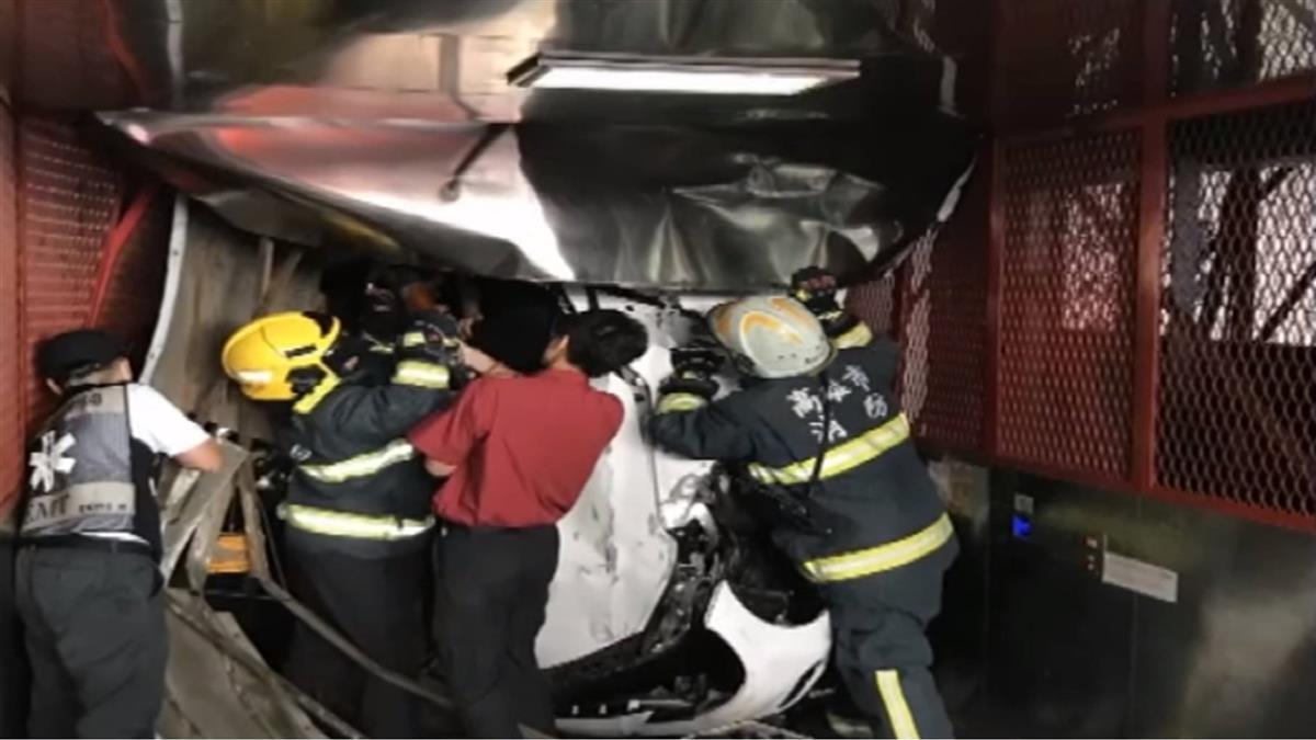 保養廠轎車突衝升降梯 員工墜樓傷重不治