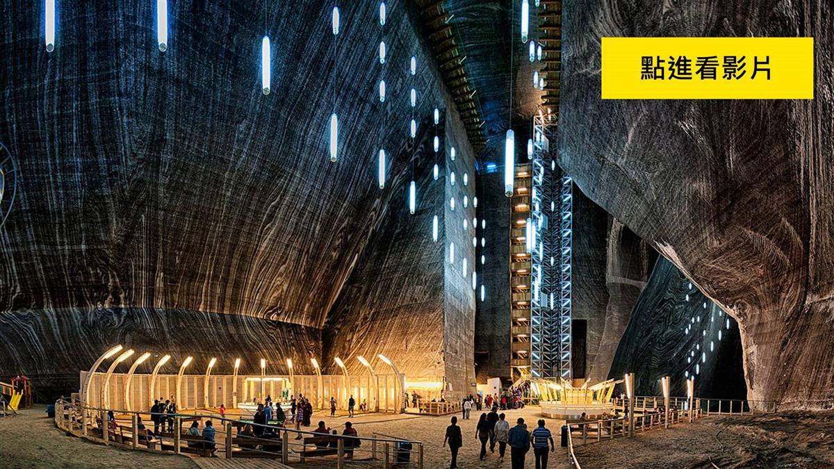 37樓深「礦坑」住3300人 驚見摩天輪運動場如科幻世界