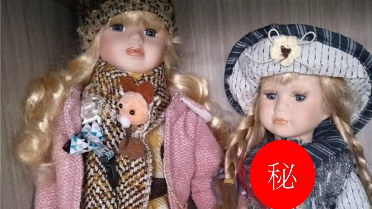 金髮陶瓷娃娃「詭異眼神」超毛!阿母這樣鎮壓 網笑歪
