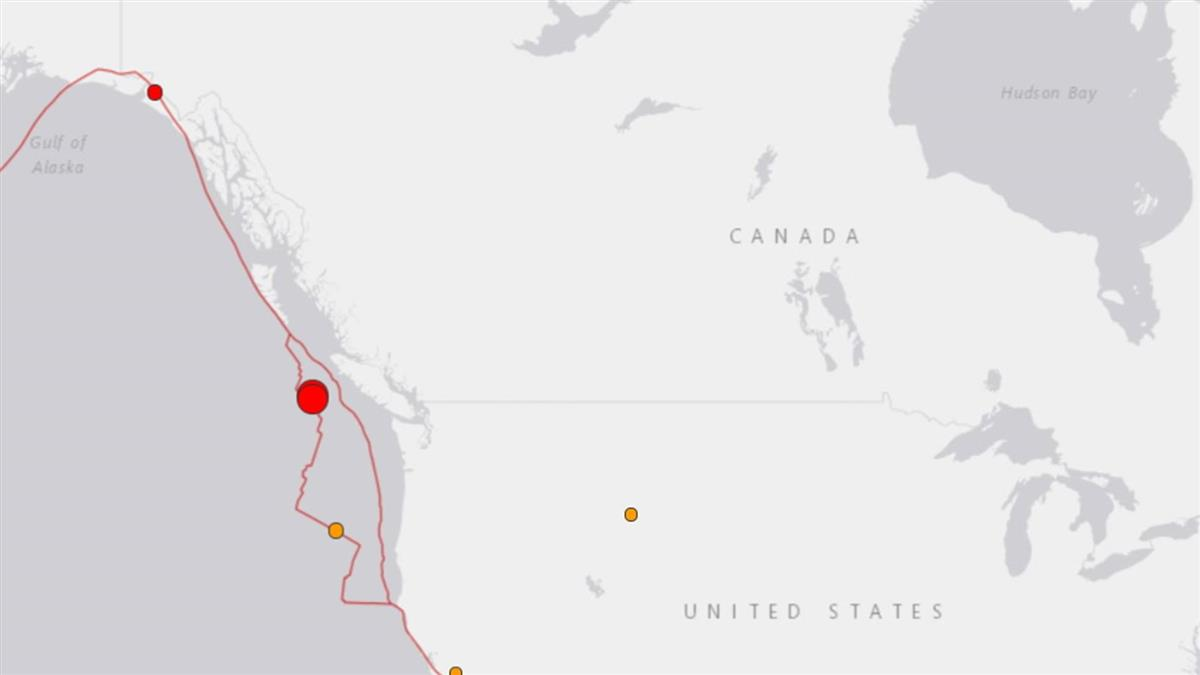 規模6.7地震襲加拿大卑詩省