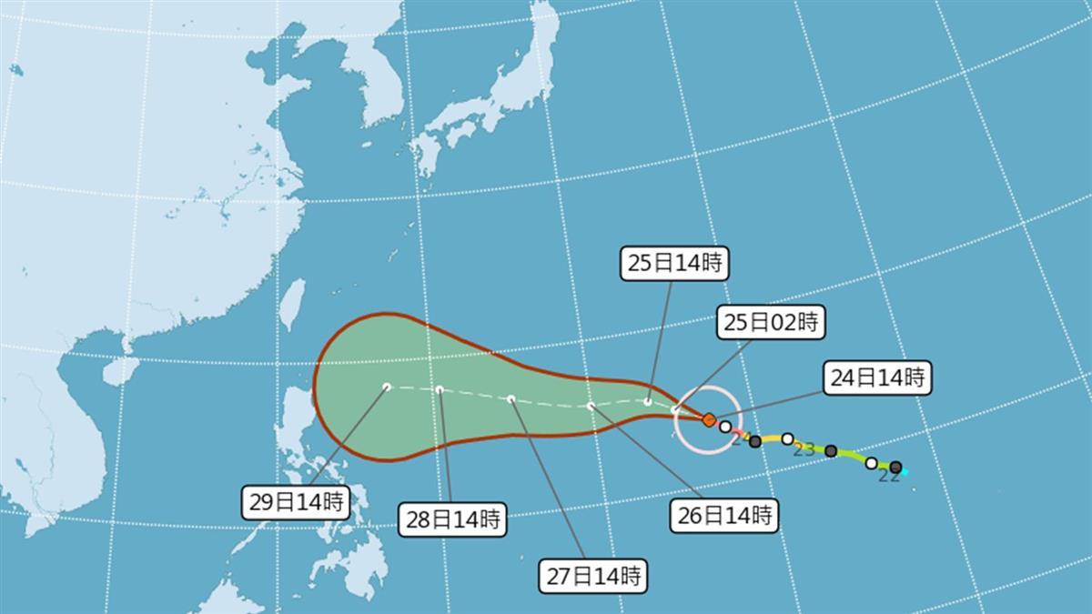 強颱「玉兔」持續增強!是否影響台灣? 氣象局給答案了