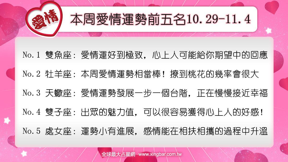 12星座本周愛情吉日吉時(10.29-11.4)