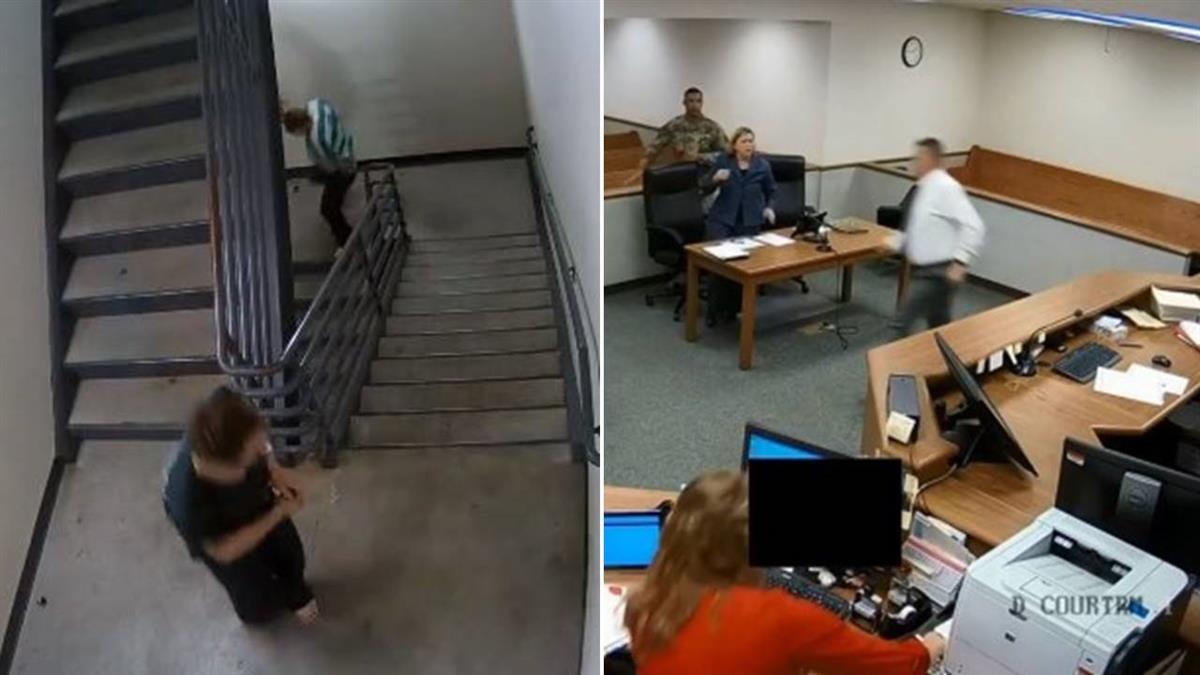 熱血法官!2嫌犯當庭逃跑…他秒脫法袍追4樓逮人