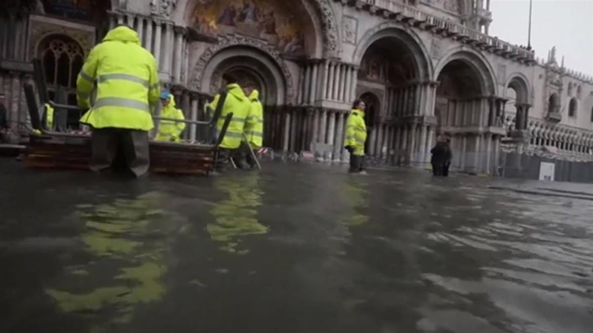 義大利強風暴雨釀5死 威尼斯水位漲至156公分