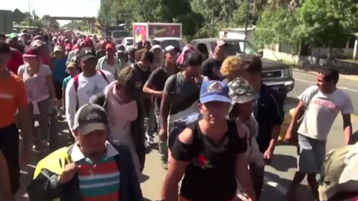 中美洲移民潮抵墨國南部 繼續徒步北上