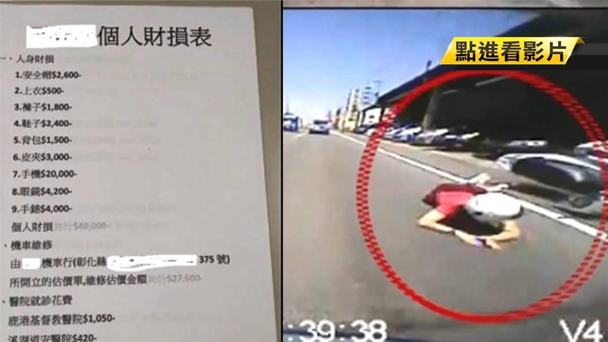 【獨家】車禍遭撞…她列兩張估價單求償25萬 含改名、算命