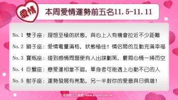 12星座本周愛情吉日吉時(11.5-11.11)