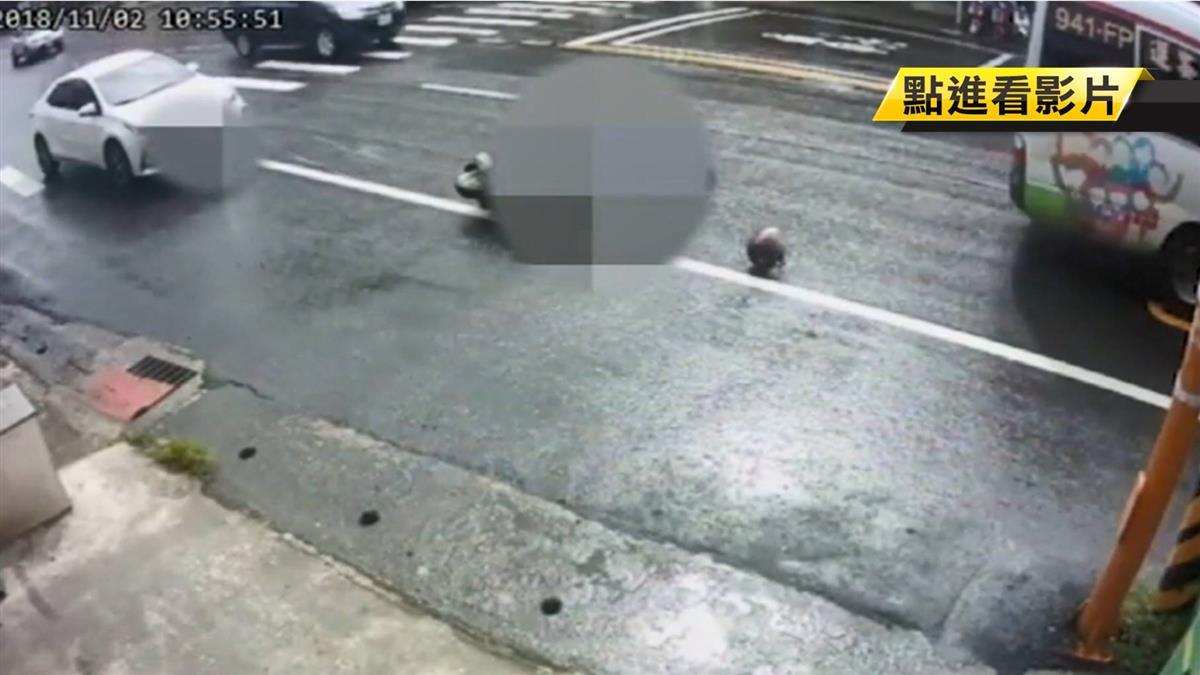 疑未保安全距離「死角」 69歲女騎士遭公車輾死