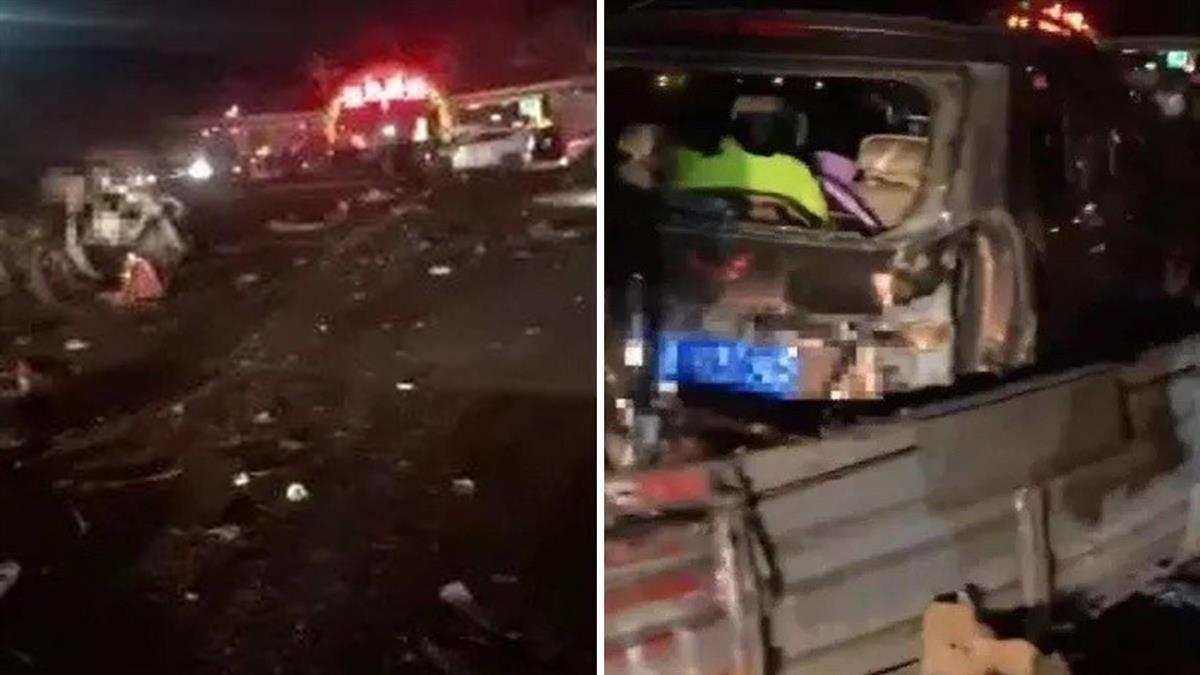 蘭州高速公路收費站連環車禍 至少14死34傷