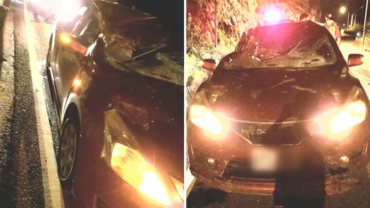 蘇花公路落石砸轎車 車頂凹陷駕駛受傷