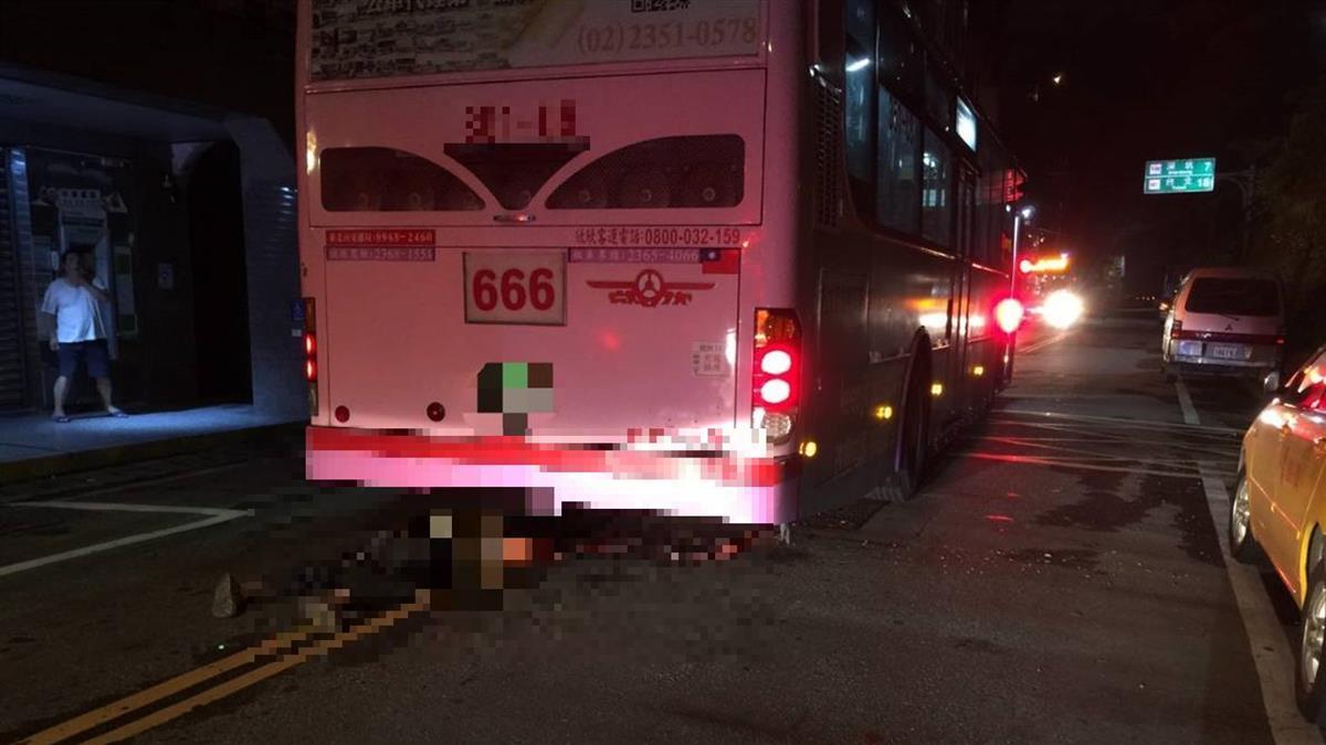 新北男遭公車輾過 腦漿外溢趴地慘死