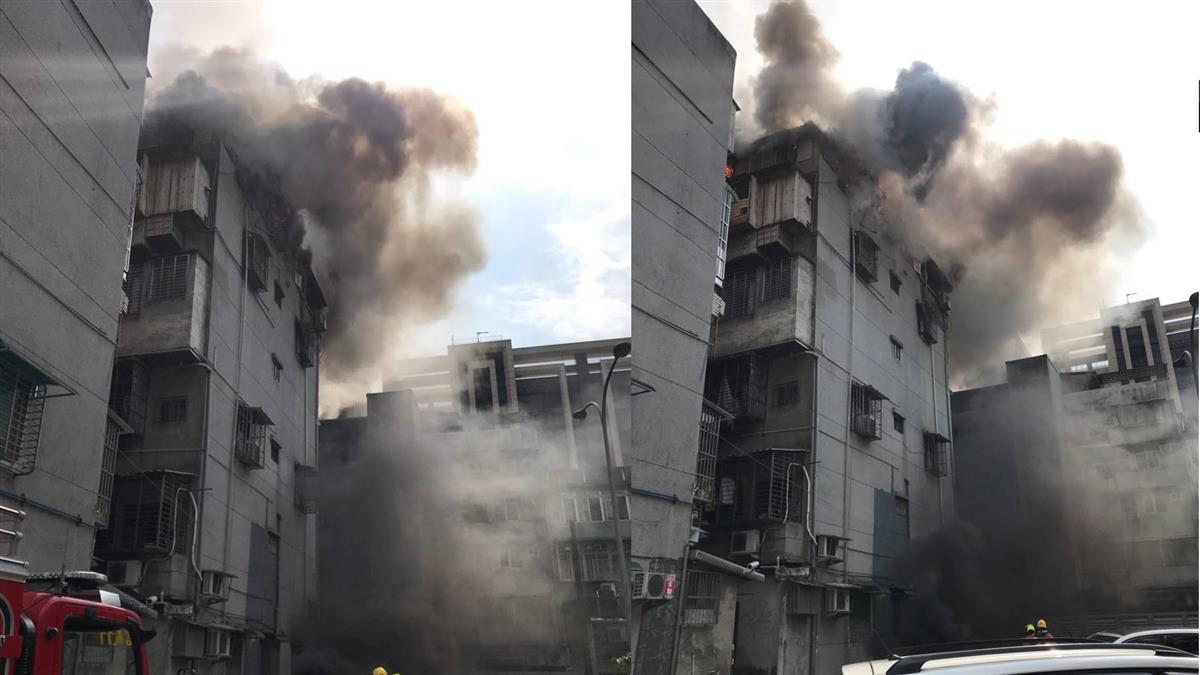 快訊/北市信義區公寓猛火竄燒 濃煙沖天際