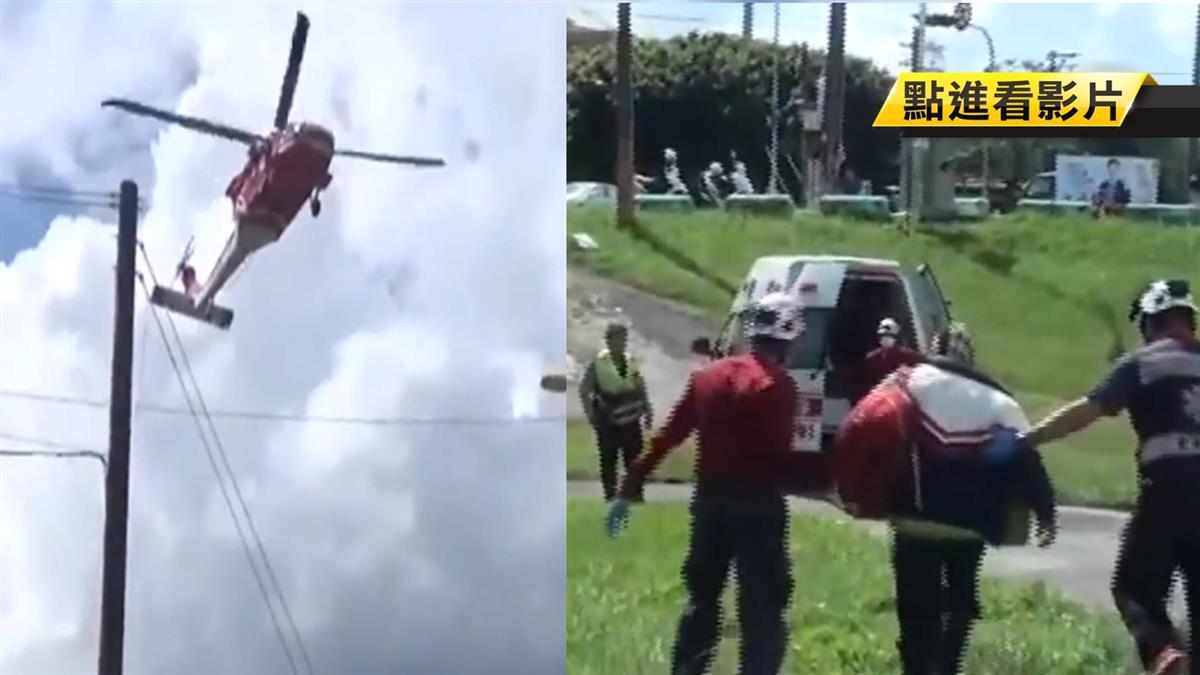 爬山摔一跤…他被登山杖刺破臉爆血!直升機急救援