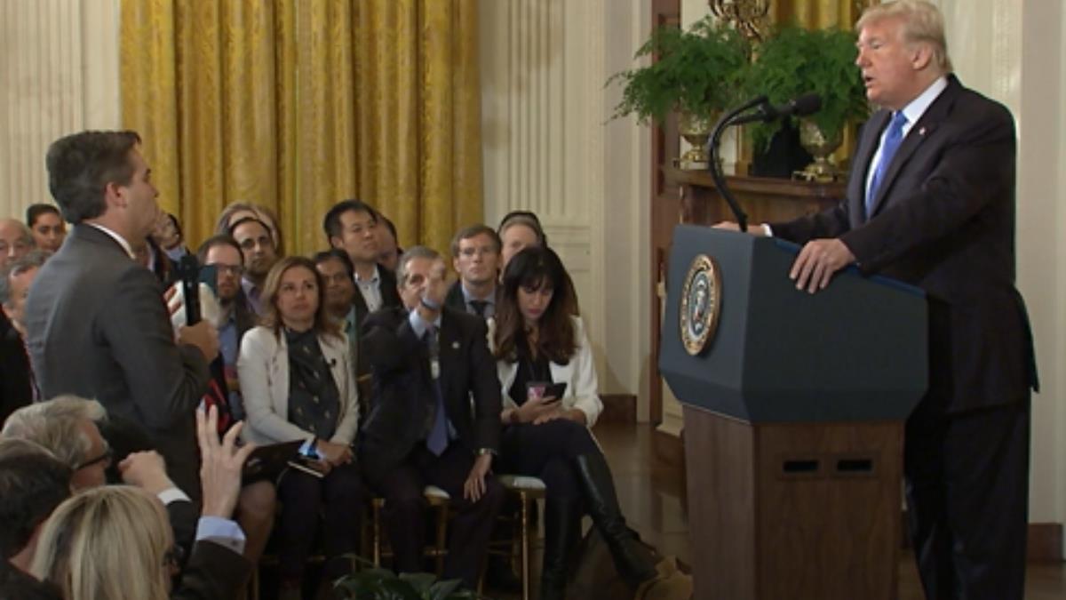 美期中選後記者會 川普與CNN白宮記者激烈交鋒