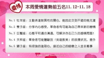12星座本周愛情吉日吉時(11.12-11.18)