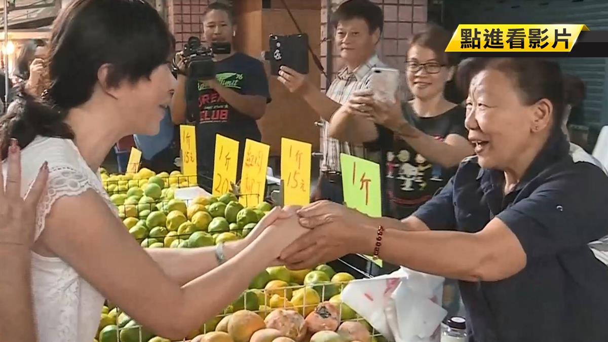 韓國瑜太太李佳芬拚市場掃街 鎖定婆媽票