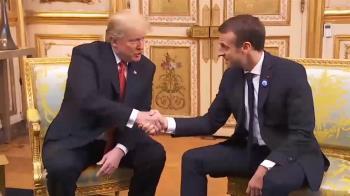川普二訪巴黎 和馬克宏互動未若上回熱絡
