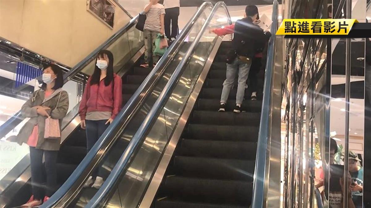 婦推七旬輪椅母逛街 搭手扶梯上樓母骨折