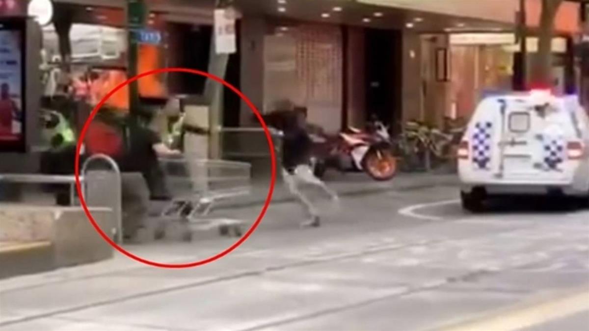 街友手推車攔墨爾本恐攻歹徒爆紅 百萬捐款湧入