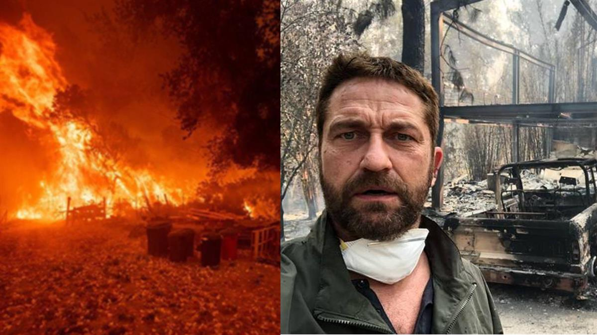 加州野火燒掉4萬個足球場!「300壯士」男星2億豪宅只剩鋼筋