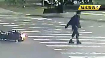 凱旋重機撞BMW車!騎士站起走了20公尺…倒地身亡
