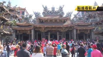 韓國瑜要來…鎮瀾宮廣場民眾爭睹、攤販備貨