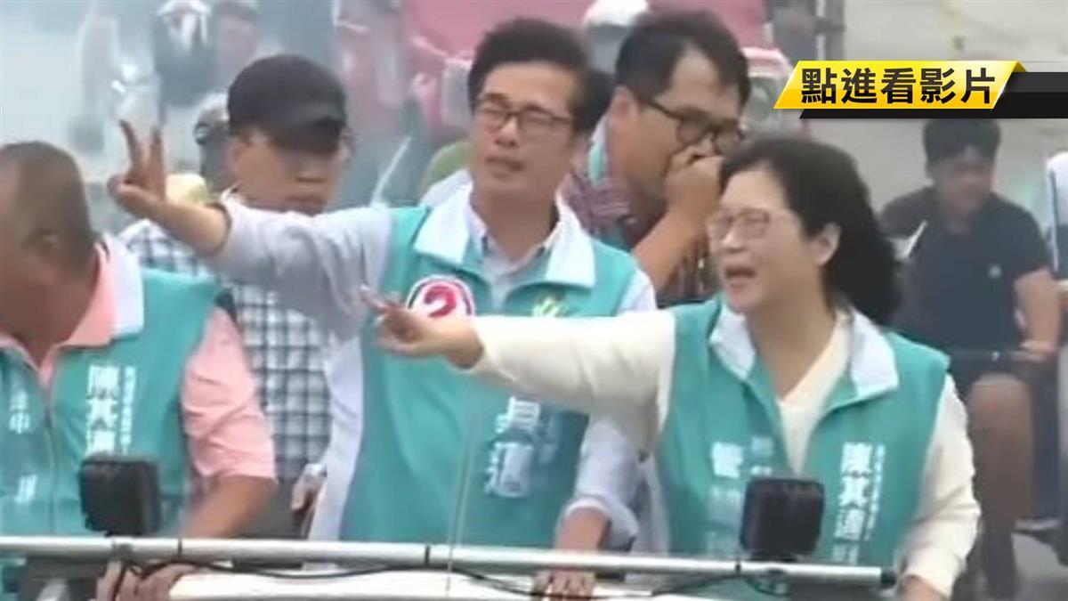 陳其邁旗津掃街拚人氣 支持者包圍搶簽名喊當選