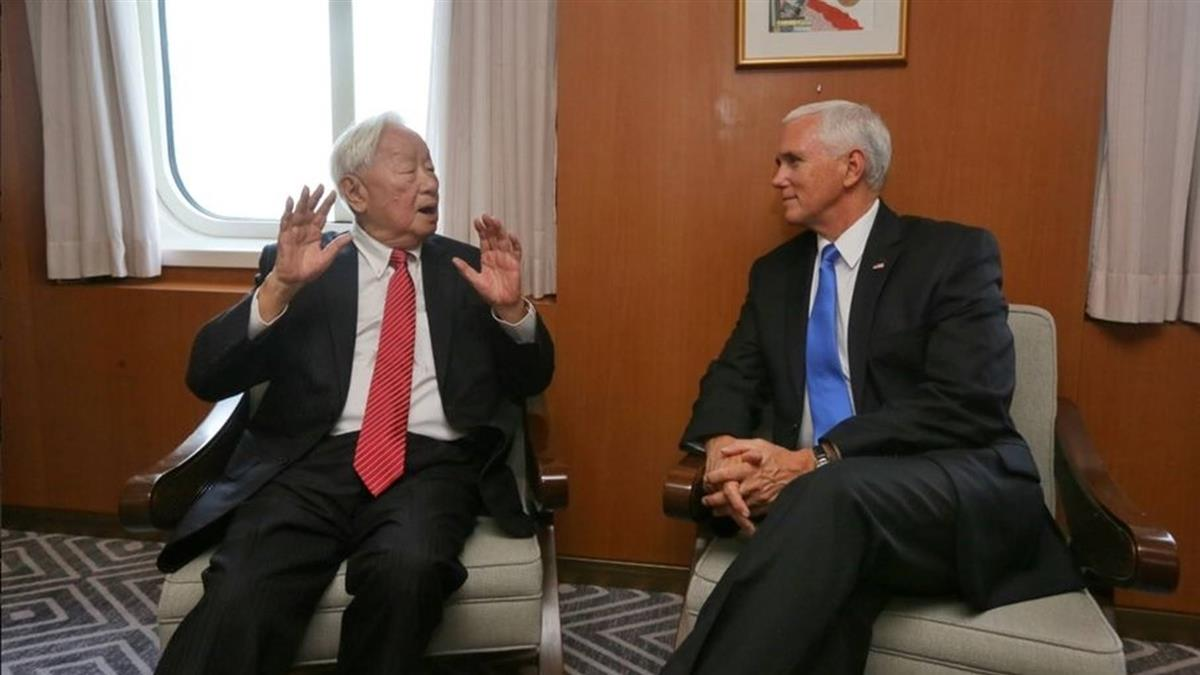 張忠謀彭斯APEC雙邊會談 總統感謝張忠謀努力