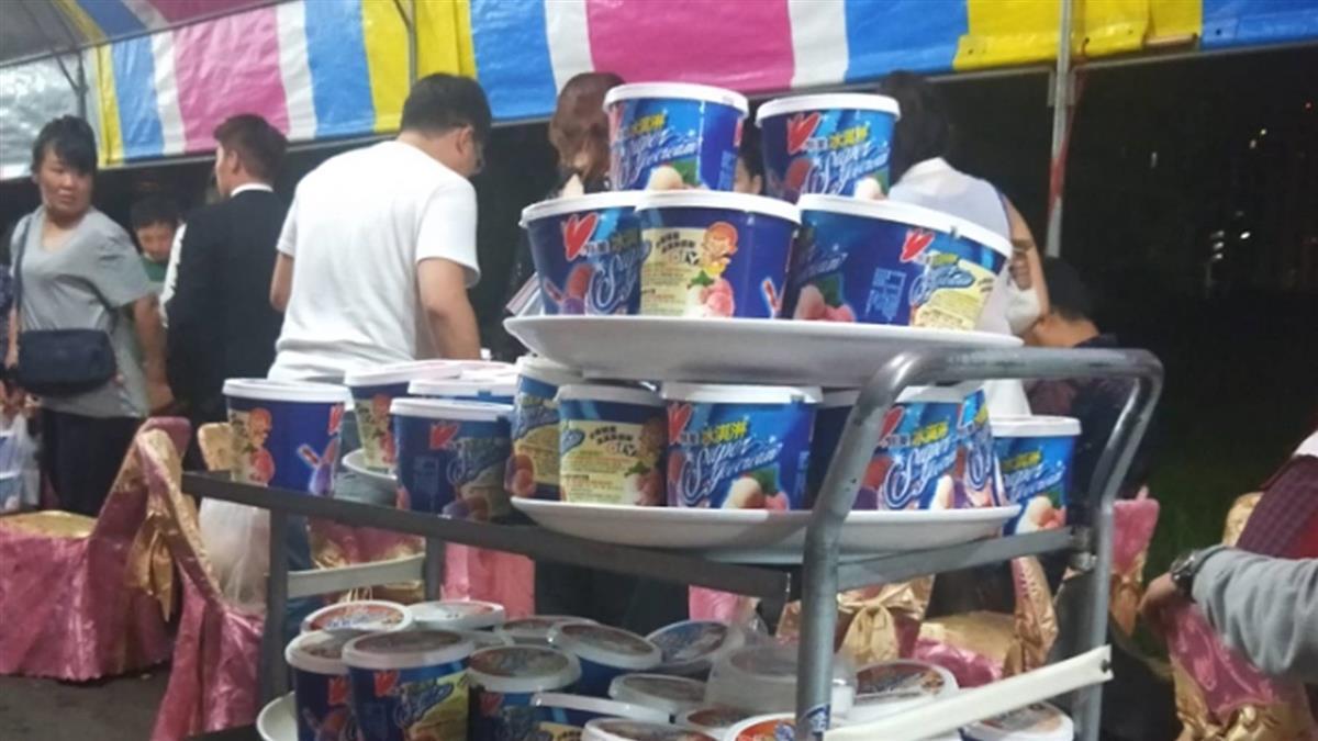 南部婚宴就是狂!70桶「家庭號」冰淇淋塔霸氣上桌