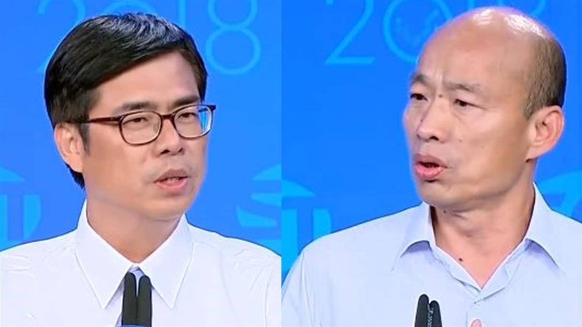 「兩岸議題」激辯! 韓、陳互稱彼此「心中有圍牆」