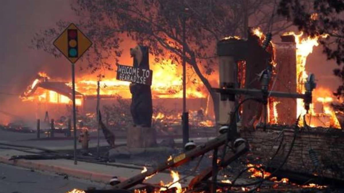 加州野火釀空污 髒到能嚐到空氣沉澱物