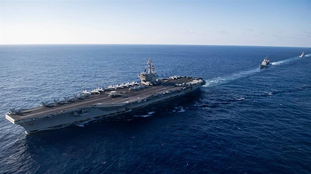 美國航艦雷根號訪港 設立禁飛區