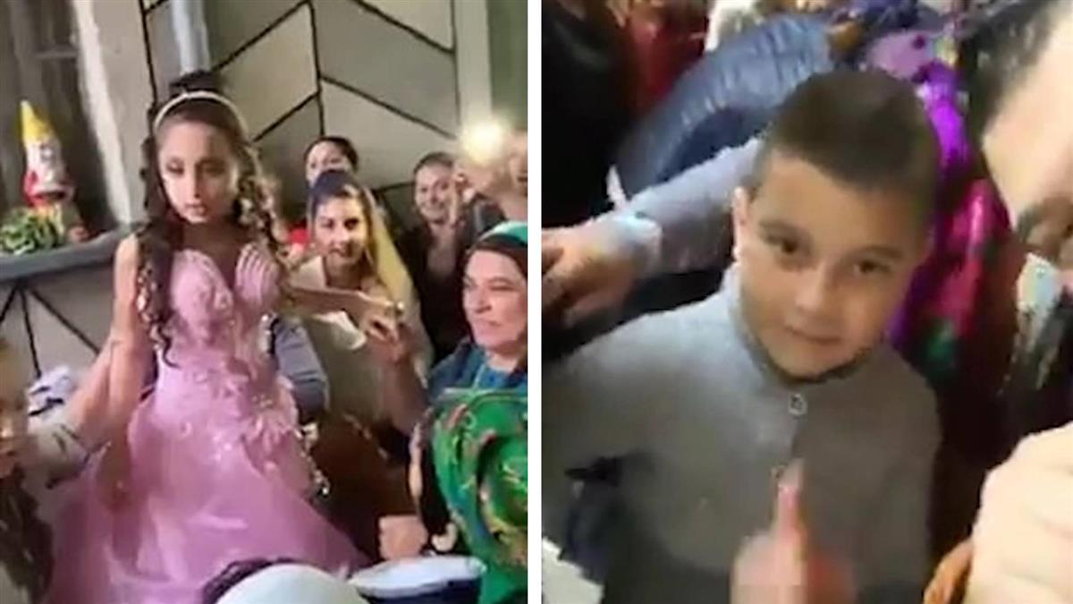 8歲女披婚紗!主持人要10歲男童玩具放一邊「娶某了」