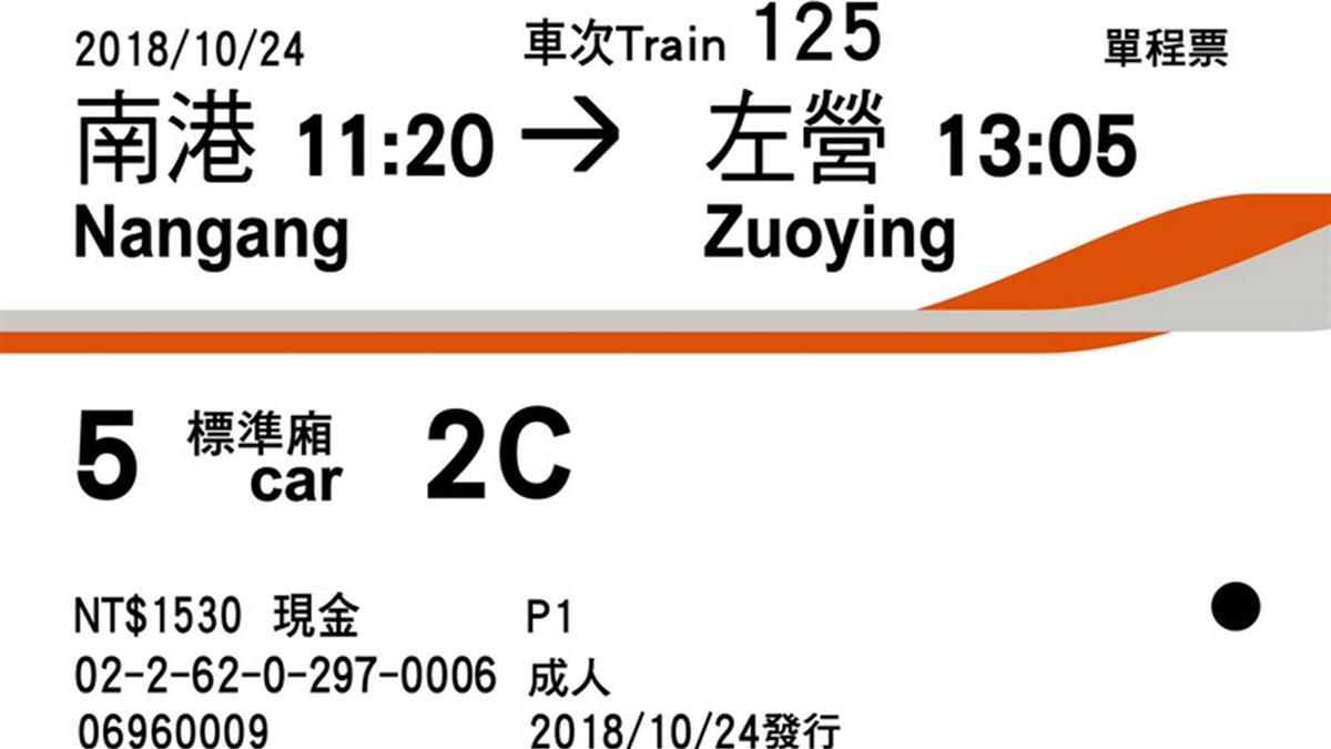 高鐵車票首度改版 字體放大底色橘改白