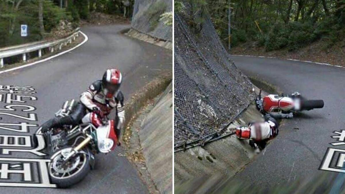 谷歌追焦!重機騎士耍帥壓車…下秒雷殘冏樣成街景圖