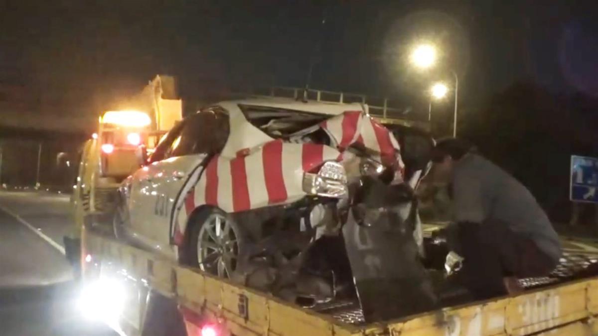 處理事故發生車禍!2國道警察遭高速追撞重傷