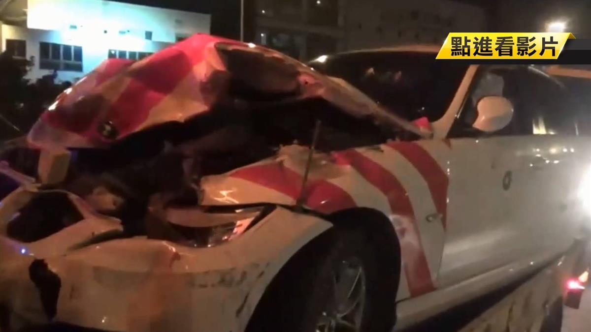 警國道值勤 下車剛停11秒遭追撞!一員警昏迷指數3