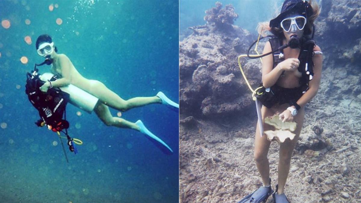 身心靈徹底解放!辣妹體驗全裸潛水 最怕遇到「這個」