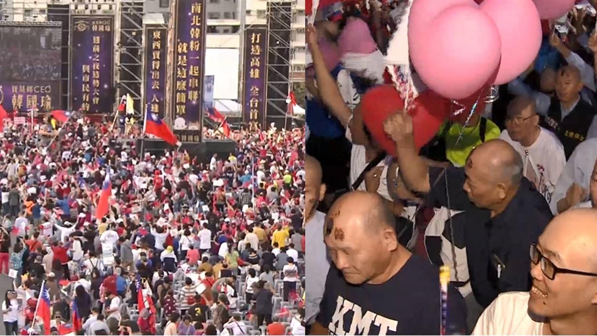 韓國瑜選前之夜湧入8萬人!277名禿子義勇軍成亮點