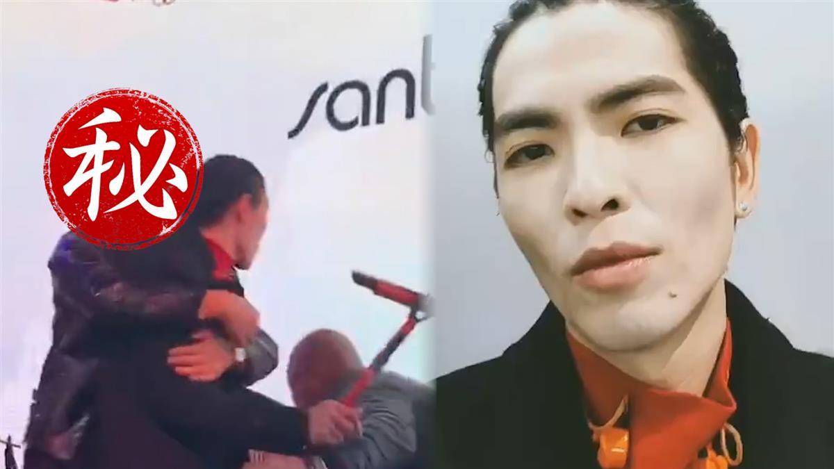 蕭敬騰唱一半被「強抱」 影帝級粉絲險遭保安架走