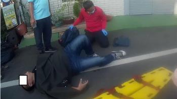 嘉義市選務人員拆布條 摔傷骨折送醫