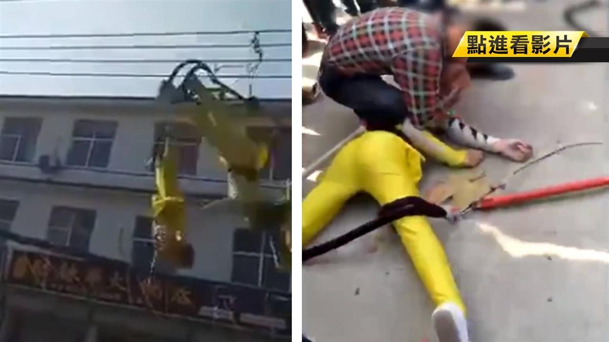 4雜技演員優雅翻身…下秒直墜5公尺高空!吐血狂抽搐