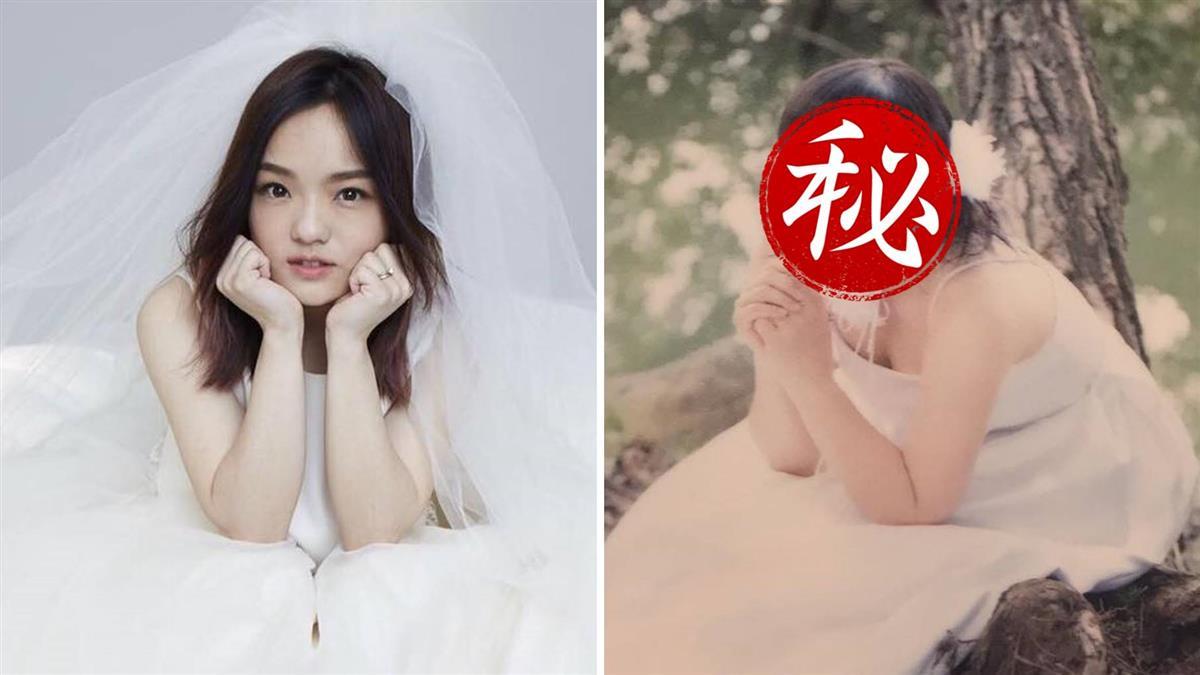 徐佳瑩零修圖婚紗照曝光!雙馬尾肉臉 網驚呆:白冰冰