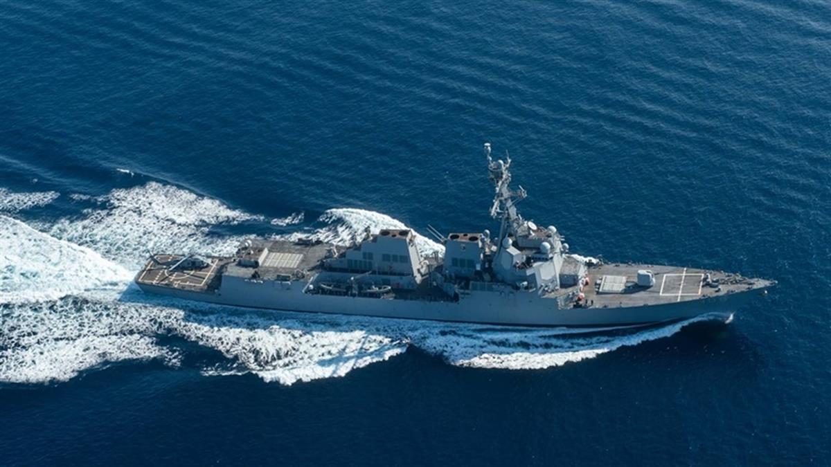 美兩軍艦穿越台海 五角大廈重申立場