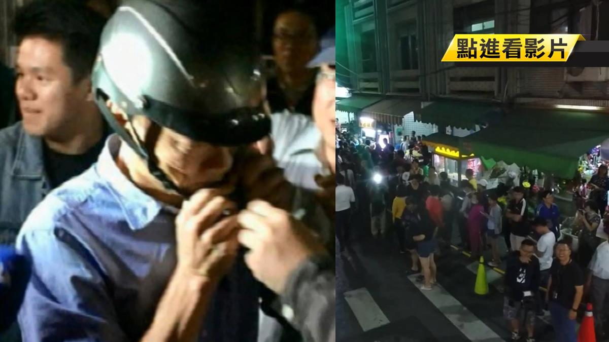 發雞排遲到!韓國瑜坐機車狂奔現場 網喊:好親民