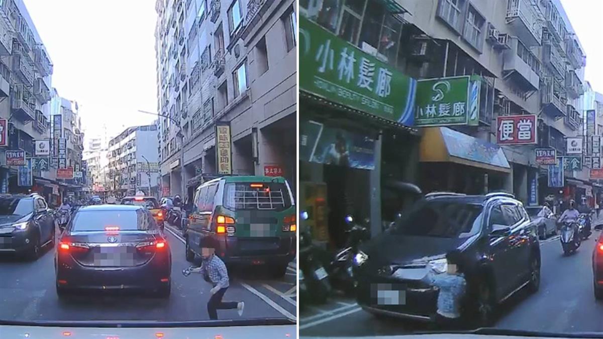 男童闖車陣 叭一聲被嚇哭…萬人讚爆:救2家庭!