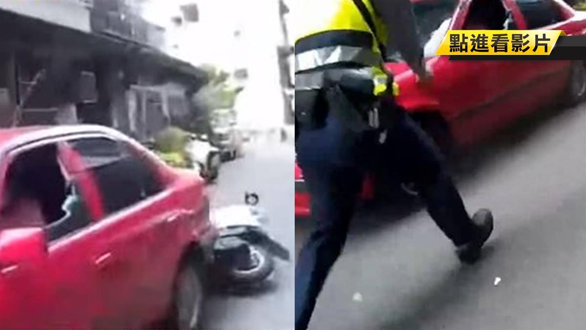 嫌開贓車拒捕還撞警!警連開3槍成功逮賊