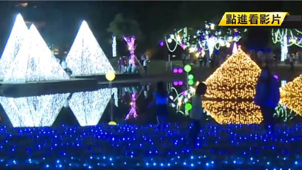 任意闖入踩踏 宜蘭奇幻耶誕燈飾遭毀損
