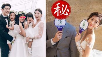 賈靜雯修杰楷鬼臉甜曬婚紗照!網驚:是Bo妞和咘咘