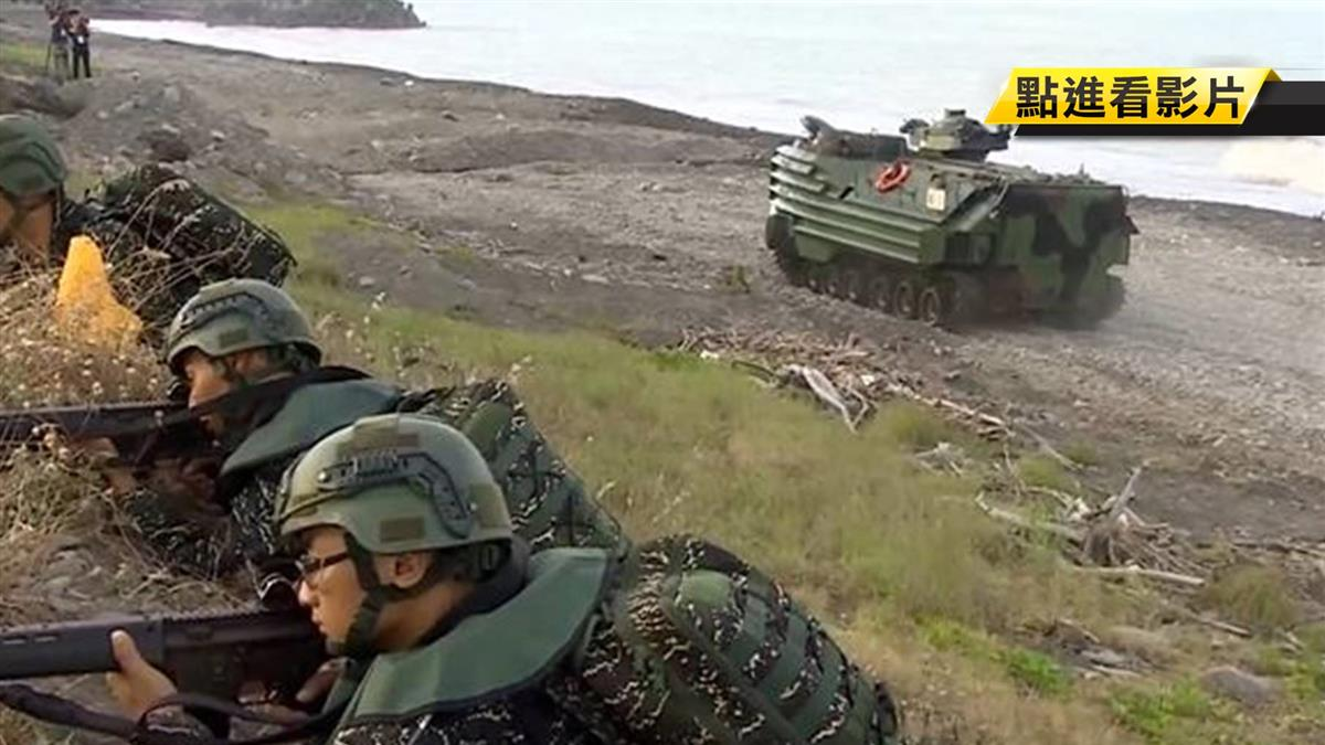 海軍陸戰隊兩棲操演 結合濱海城鎮戰